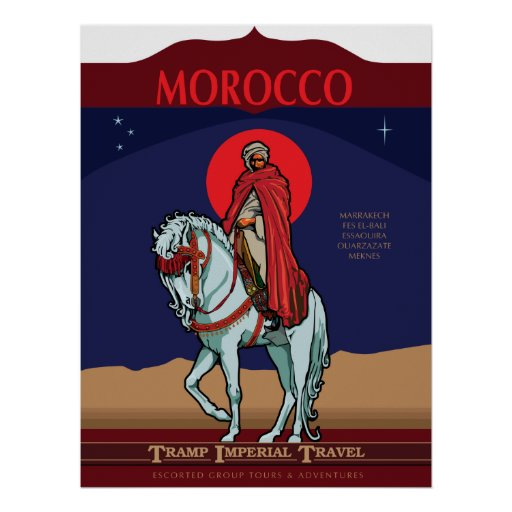 Morocco Travel Poster