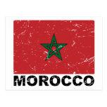 Morocco Vintage Flag Postcard