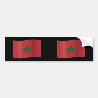 Morocco waving, Morocco Car Bumper Sticker