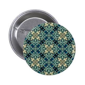 Moroccon inspiró diseño pin redondo de 2 pulgadas