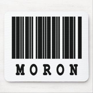 moron barcode design mouse pad