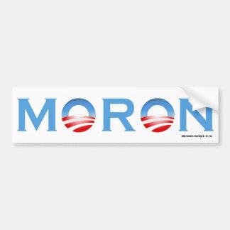 Moron Car Bumper Sticker