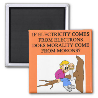 moron morality 2 inch square magnet