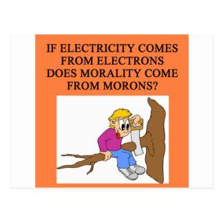 moron morality postcard