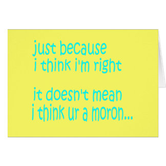 Moron Stationery Note Card