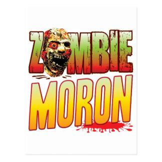 Moron Zombie Head Postcard