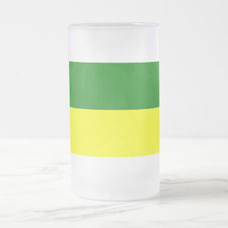 Morona-Santiago flag Frosted Glass Beer Mug