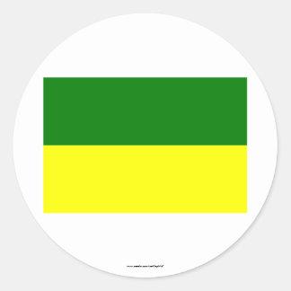 Morona-Santiago flag Classic Round Sticker