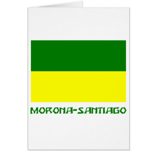 Morona-Santiago flag with Name Card