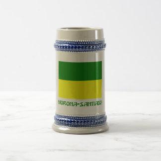 Morona-Santiago flag with Name 18 Oz Beer Stein