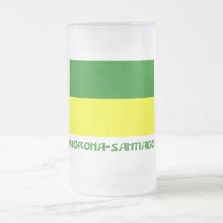 Morona-Santiago flag with Name 16 Oz Frosted Glass Beer Mug