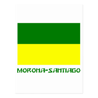 Morona-Santiago flag with Name Postcard