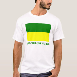 Morona-Santiago flag with Name T-Shirt
