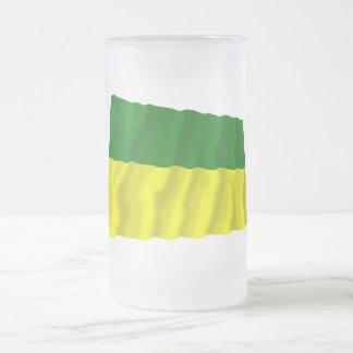 Morona-Santiago waving flag 16 Oz Frosted Glass Beer Mug