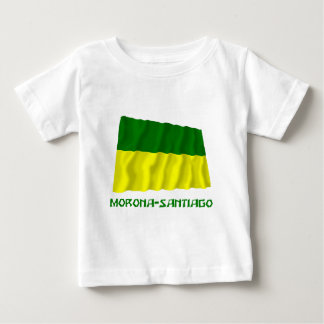 Morona-Santiago waving flag with Name Baby T-Shirt