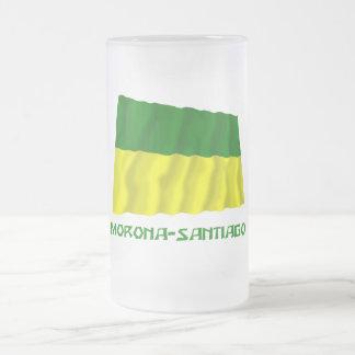 Morona-Santiago waving flag with Name 16 Oz Frosted Glass Beer Mug