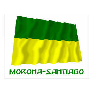 Morona-Santiago waving flag with Name Postcard