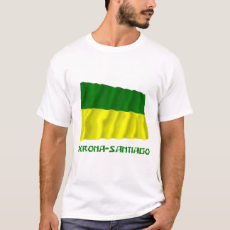 Morona-Santiago waving flag with Name T-Shirt