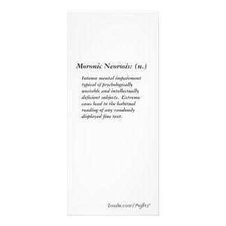 Moronic Neorosis: Rack Card
