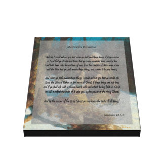 """""""Moroni's Promise"""" Stretched Canvas Prints"""