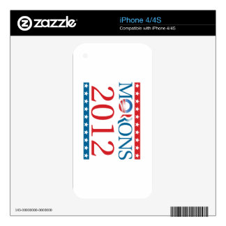 Morons 2012 skins for the iPhone 4S