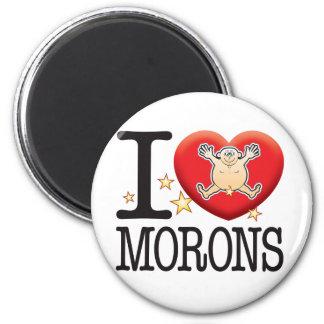 Morons Love Man 2 Inch Round Magnet