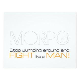 MORPG Stop Jumping Around and Fight Like a Man Card