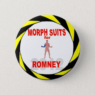 Morph Suits for Romney 2012 Pinback Button