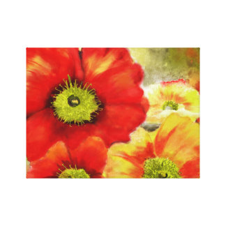 Morpheus's Abstract Red Poppies Canvas