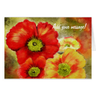 Morpheus's Abstract Red Poppies Card