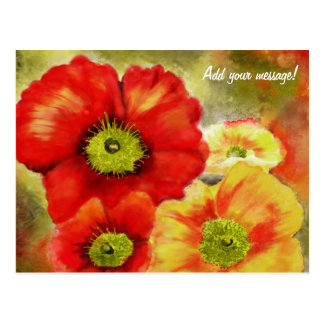 Morpheus's Abstract Red Poppies Postcard