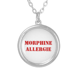 MORPHINE ALLERGIE SILVER PLATED NECKLACE