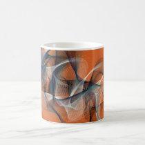 Morphing Mug  Abstract Orange