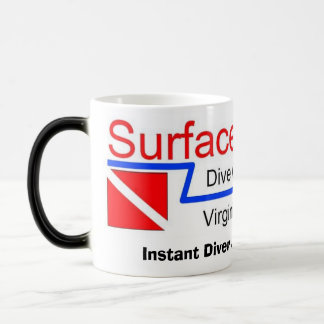 """Morphing Mug, """"Instant Diver, Just add Water!"""" 11 Oz Magic Heat Color-Changing Coffee Mug"""