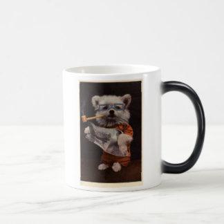 Morphing Mug: Puppy Pipe Smoker Magic Mug