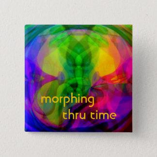 Morphing Thru Time Pinback Button