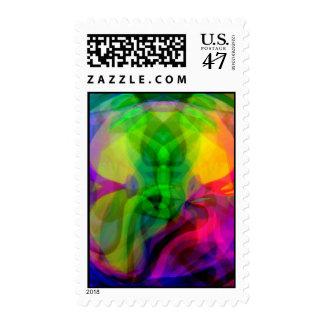 Morphing thru Time Postage Stamp