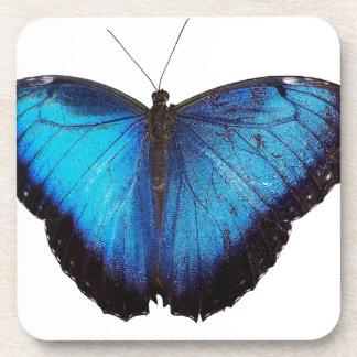 Morpho azul Butterflie Posavasos De Bebidas