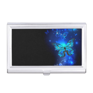Morpho Butterfly in the Dark Background Business Card Case