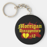 Morrigan Disapproves Basic Round Button Keychain