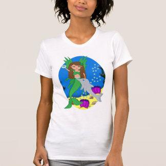 Morrigan the Green Merfaery and Dolphin T-shirt