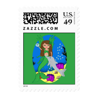Morrigan the Merfaery and Dolphin Postage