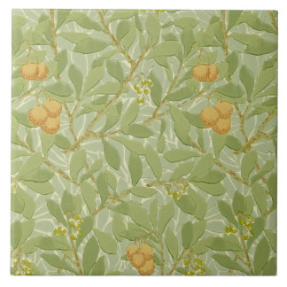 Morris 1913 Arbutus Design Arts & Crafts Tile