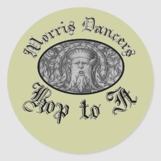 Morris Dancers Hop to It Classic Round Sticker