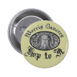 Morris Dancers Hop to It Pinback Button