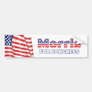 Morris for Congress Patriotic American Flag Car Bumper Sticker