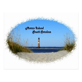 Morris Island -Lighthouse Postcard