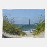 Morris Island Lighthouse Walkway Kitchen Towels