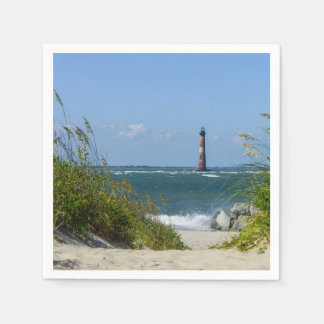 Morris Island Lighthouse Walkway Napkin