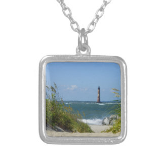 Morris Island Lighthouse Walkway Silver Plated Necklace
